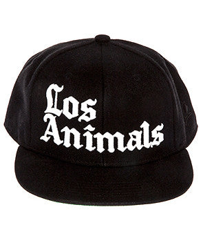 LOS ANIMALS SNAPBACK HAT BLACK