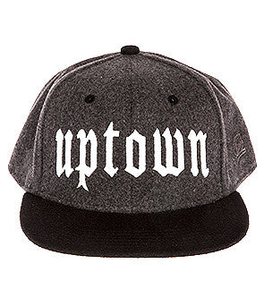 UPTOWN WOOL SNAPBACK HAT CHARCOAL/BLK