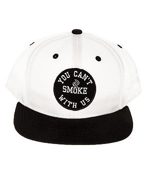YOU CAN'T SMOKE WITH US HAT WHT/BLK