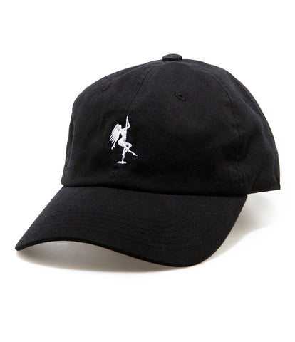 POLE SPORT STRAPBACK HAT BLACK