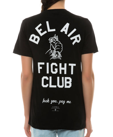 BEL AIR FIGHT CLUB TEE BLACK
