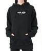 THE HAMPTONS EMBROIDERED HOODIE BLACK