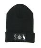 MONEY WEED PUSSY CAT BLACK BEANIE