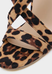 Leopard Printed Heeled Sandals - Leopard