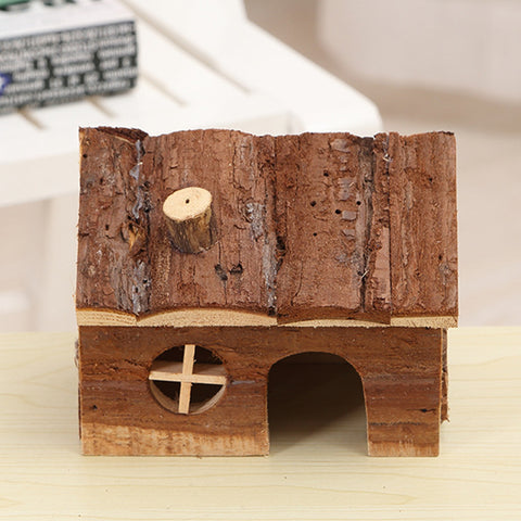 Natural Wood Small Animal Hamster house Bed guinea pig hedgehog chinchilla