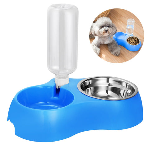 Dual Detachable Dog Bowl Stainless Steel Food and Water Feeder
