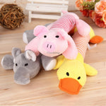 Dog Puppy Chew Squeaker Squeaky Sound Duck Pig & Elephant