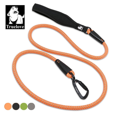 Dogs Reflective with soft handle walk  lead rope