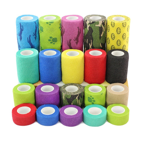 1 Roll Dog Cat Foot Bandage Adhesive Bandage Medical Tape For Health Care 4 Sizes