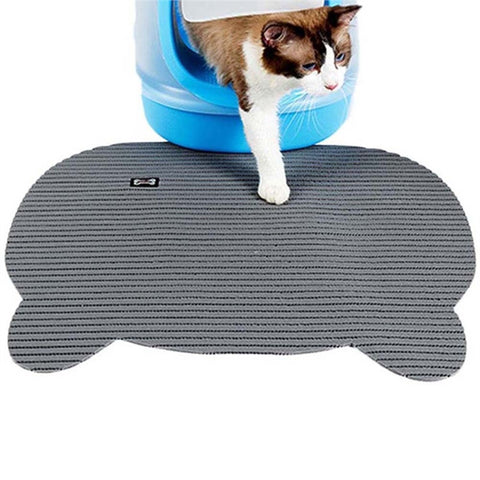 Non-slip Cat Litter Mat  (Gray)