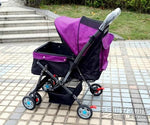 Folding Dog Cat Stroller Pet Carrier Cart Lightweight Outdoor Dog Walking Shopping Travelling