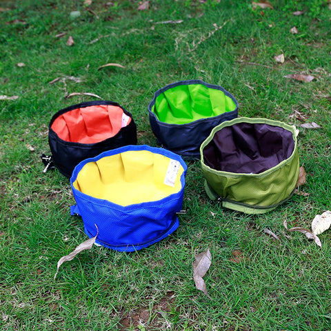 Collapsible Pet Travel Bowl Dog Cat Camping Bowl Waterproof