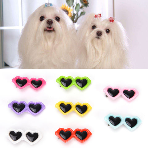 1PCS Dog Hair Bows Glasses Cat Hair Hairpin