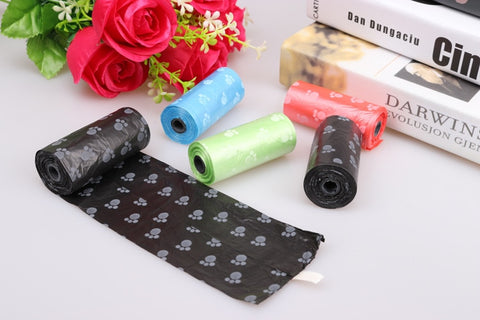 1 roll Pet Garbage Bag Dog Pickup sanitary Bag Portable