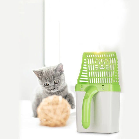 Cat Litter Shovel Sand Cleaning Scoop with 15pcs Waste Bags