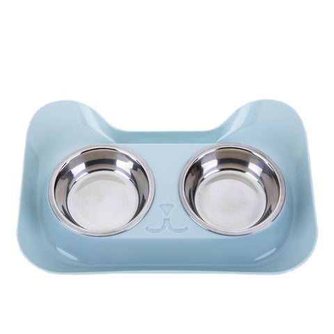 Double dog cat bowl high quality for food n water bowl