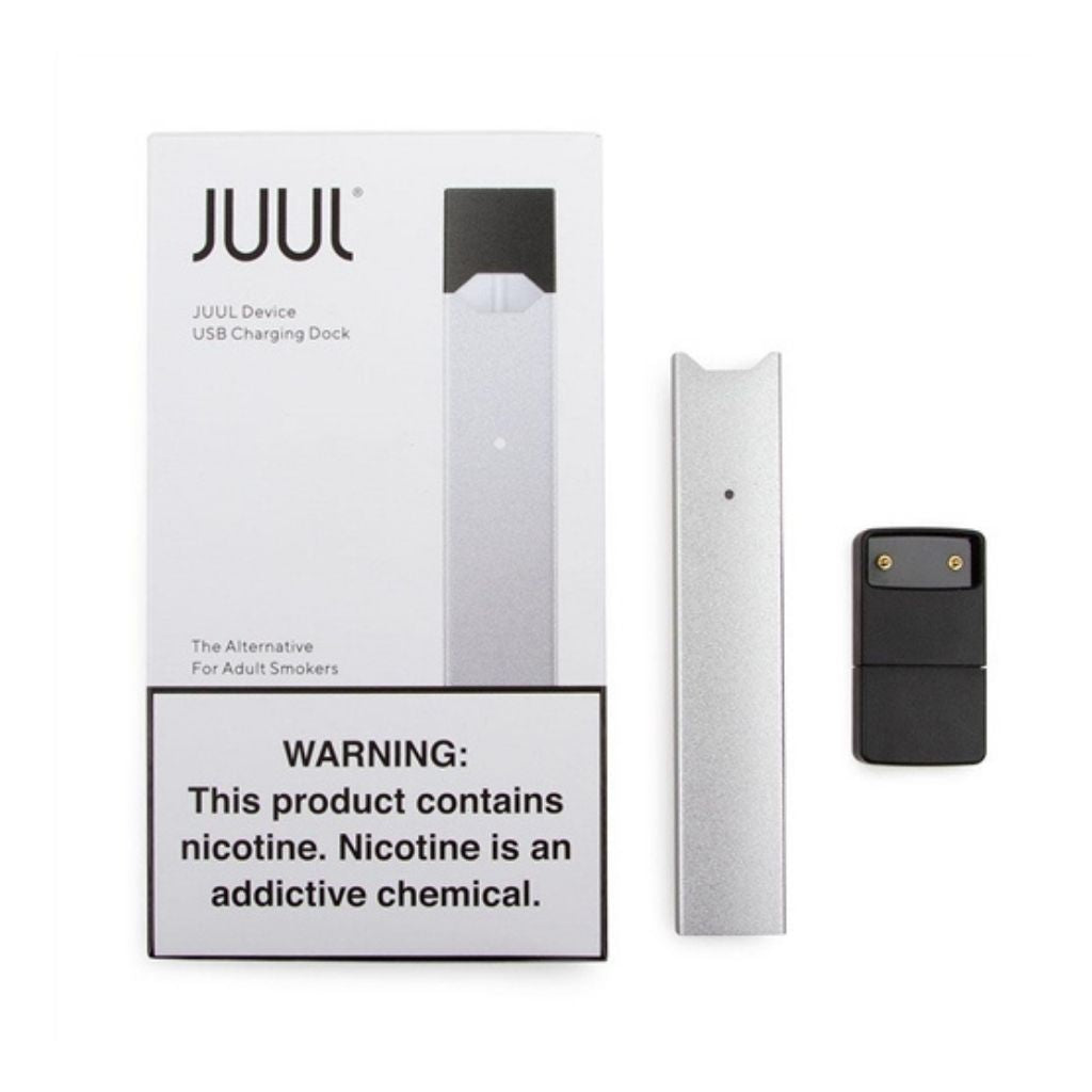 JUUL Device Kit: Silver - BLANKZ! Pods