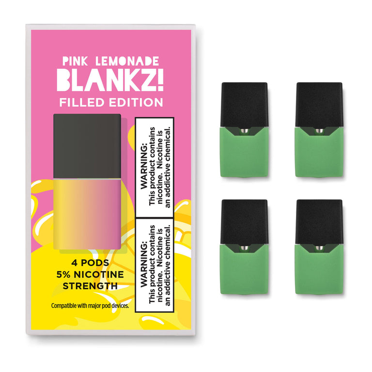 NEW! BLANKZ! Prefilled Pink Lemonade JUUL Compatible Pods - BLANKZ! Pods