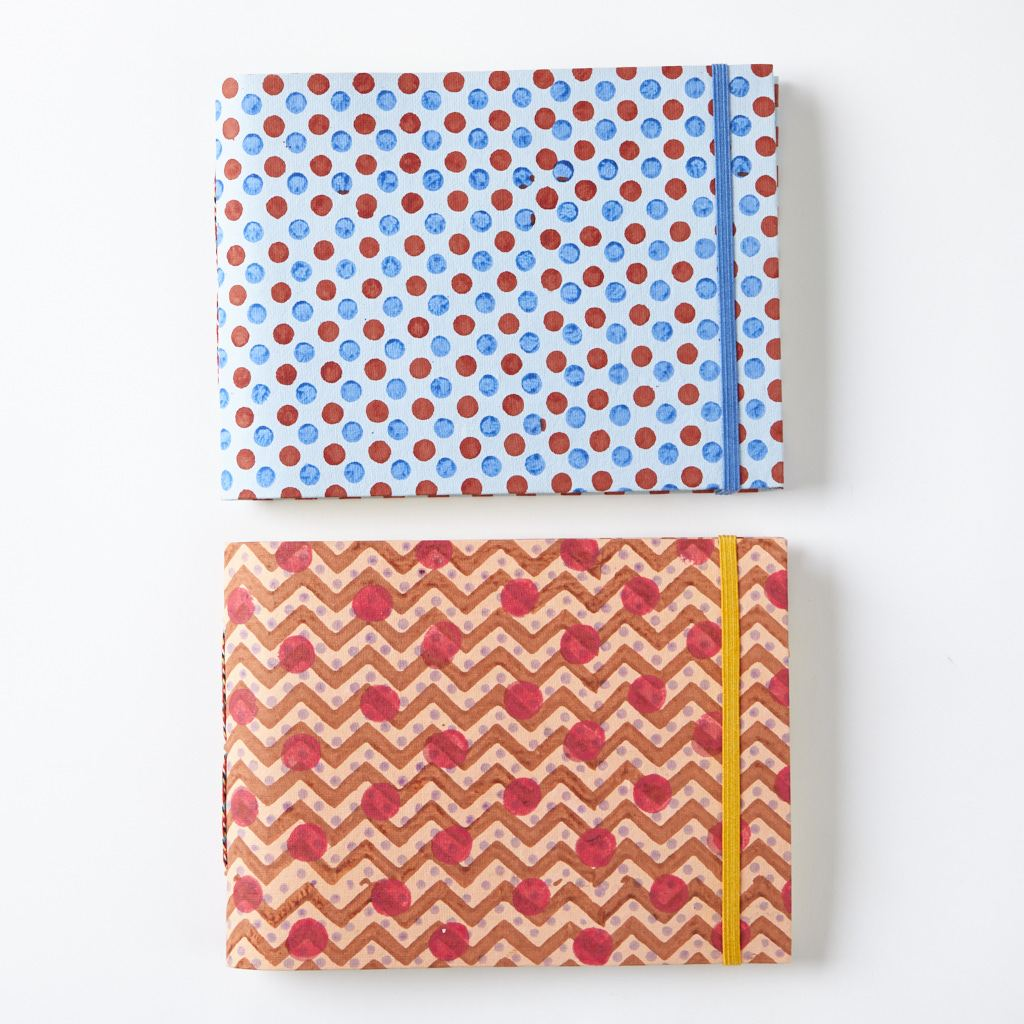 Jotter - Dots - Red & Blue