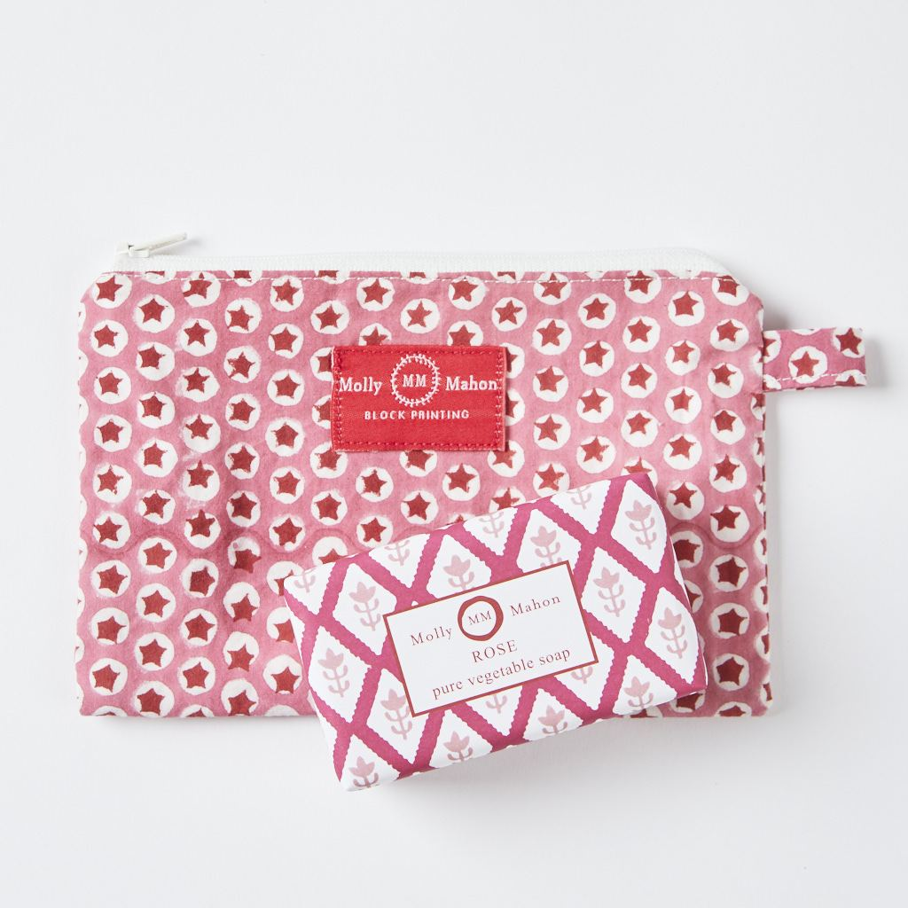 Purse + Soap - Pink - Rose