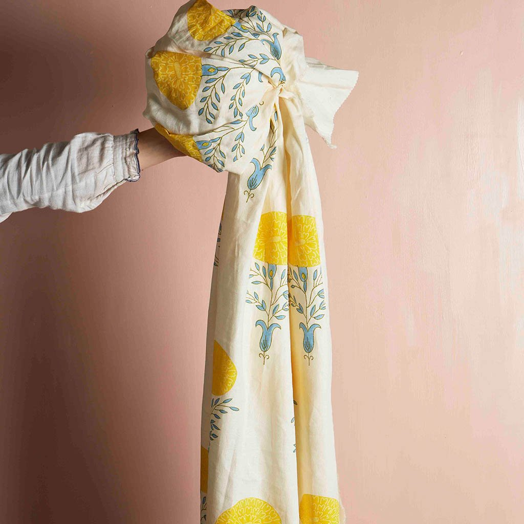 Fabric - Marigold - Oyster - Yellow