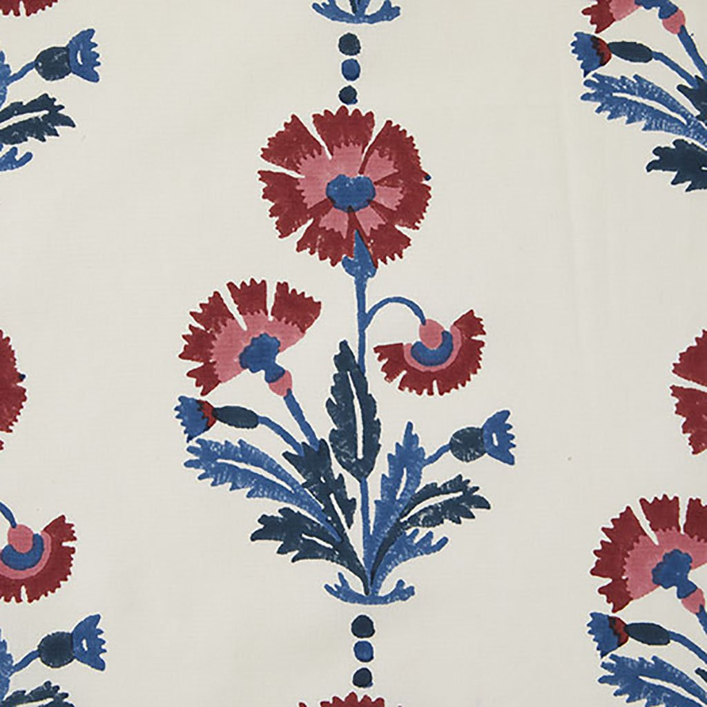 Dianthus - Cotton - Indigo & Iron