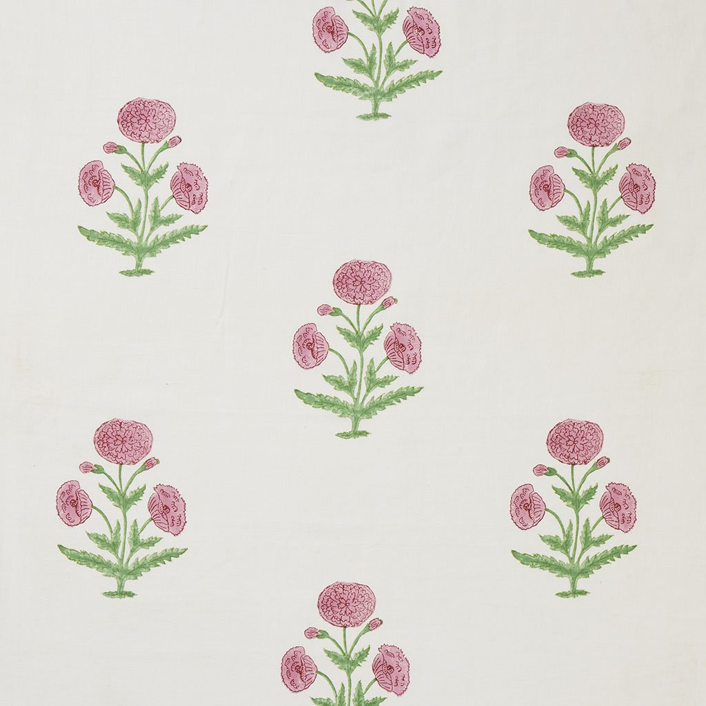 Fabric - Poppy - Oyster - Rose/Grass