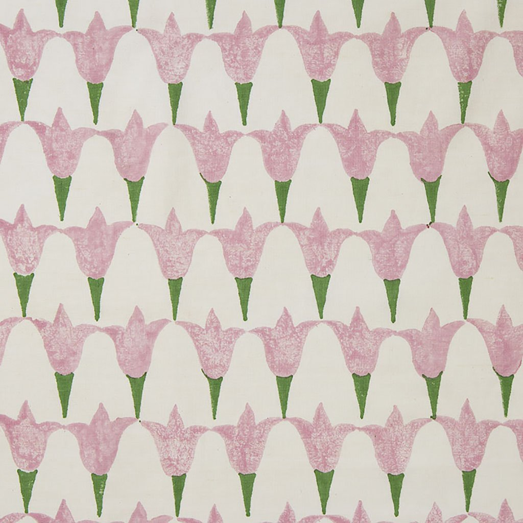 Fabric - Tulip - Oyster - Rose/Grass