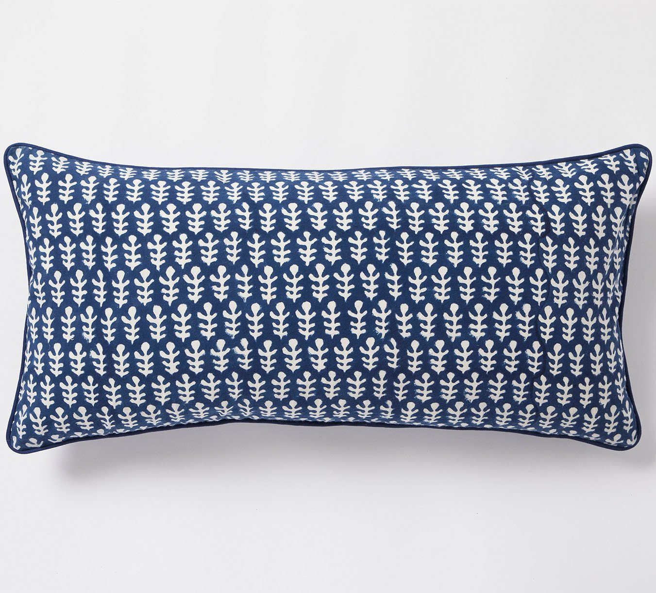 Cushion - Bagru - Piped - Dark Blue - Noodle