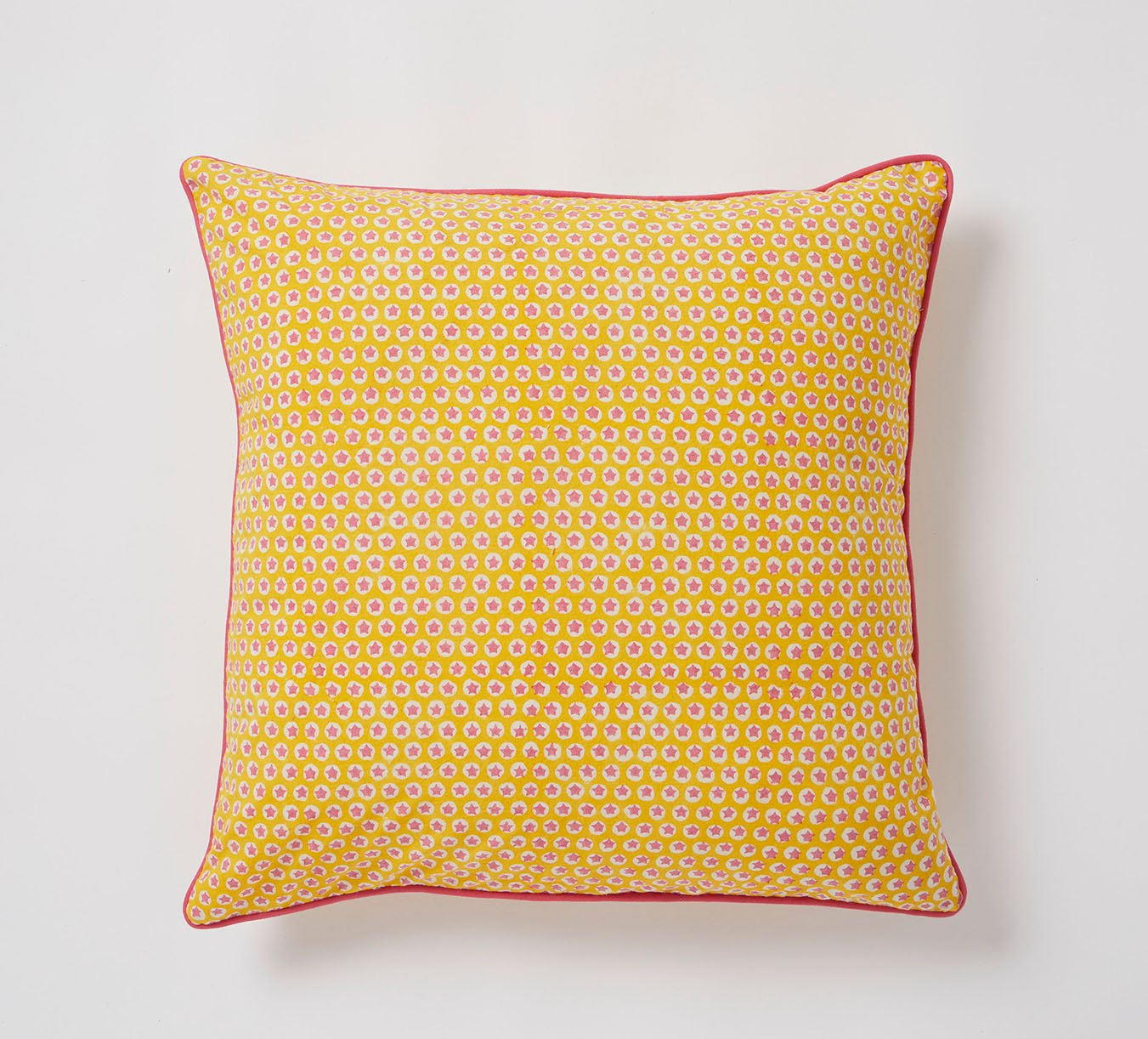 Cushion - Tuk Tuk - Piped - Yellow - 70 x 35 cm
