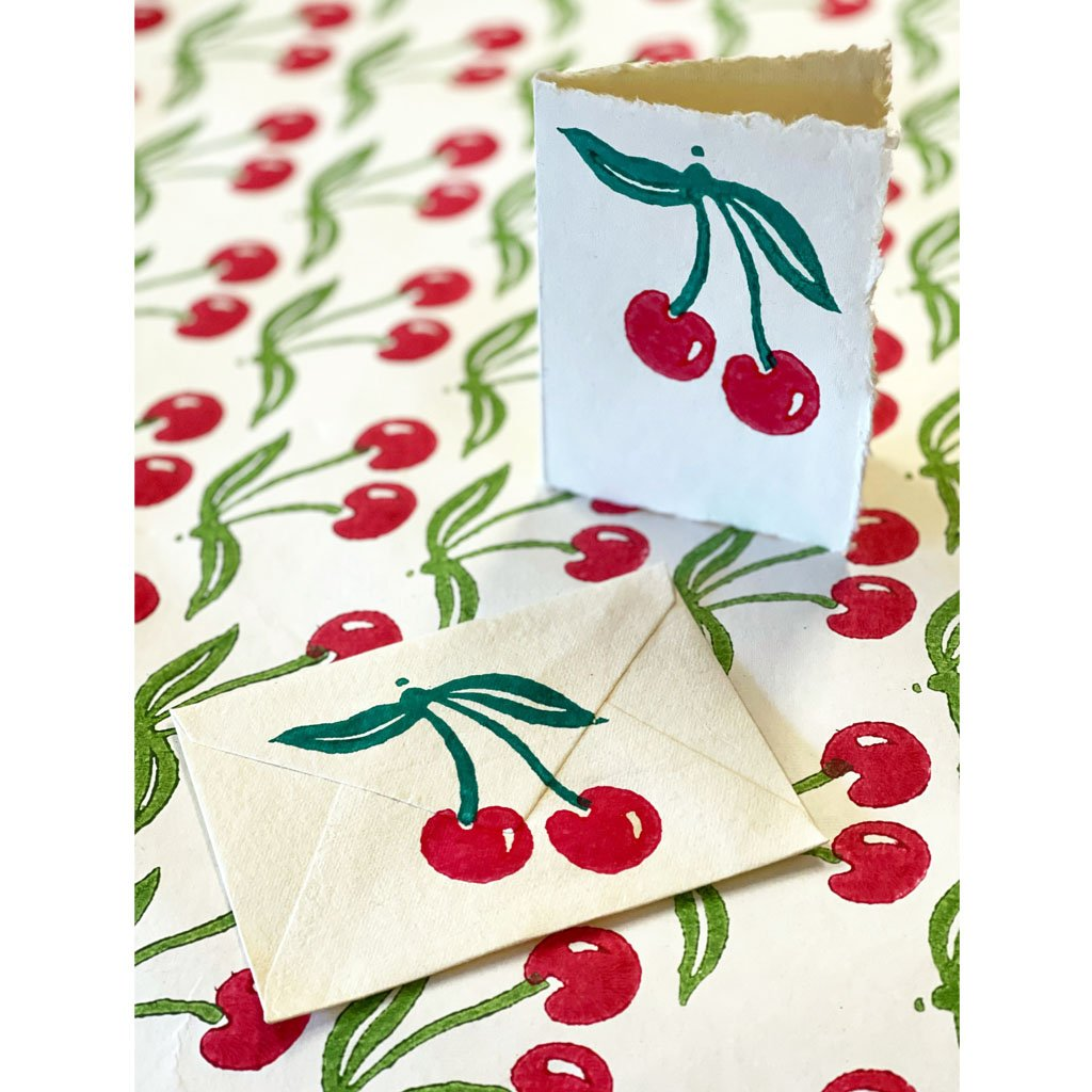 Block Print Kit - Draw String Bag - Cherry Red