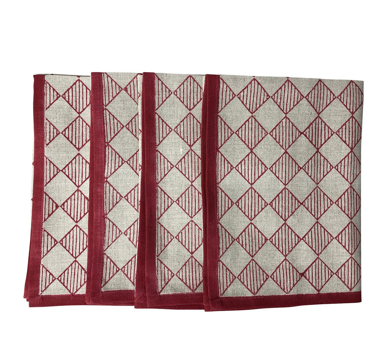 Napkin - Chequers - Red