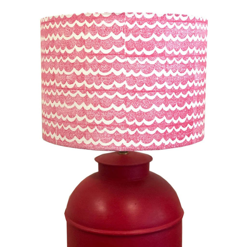 Block Print Kit - Lampshade - Wave Pink