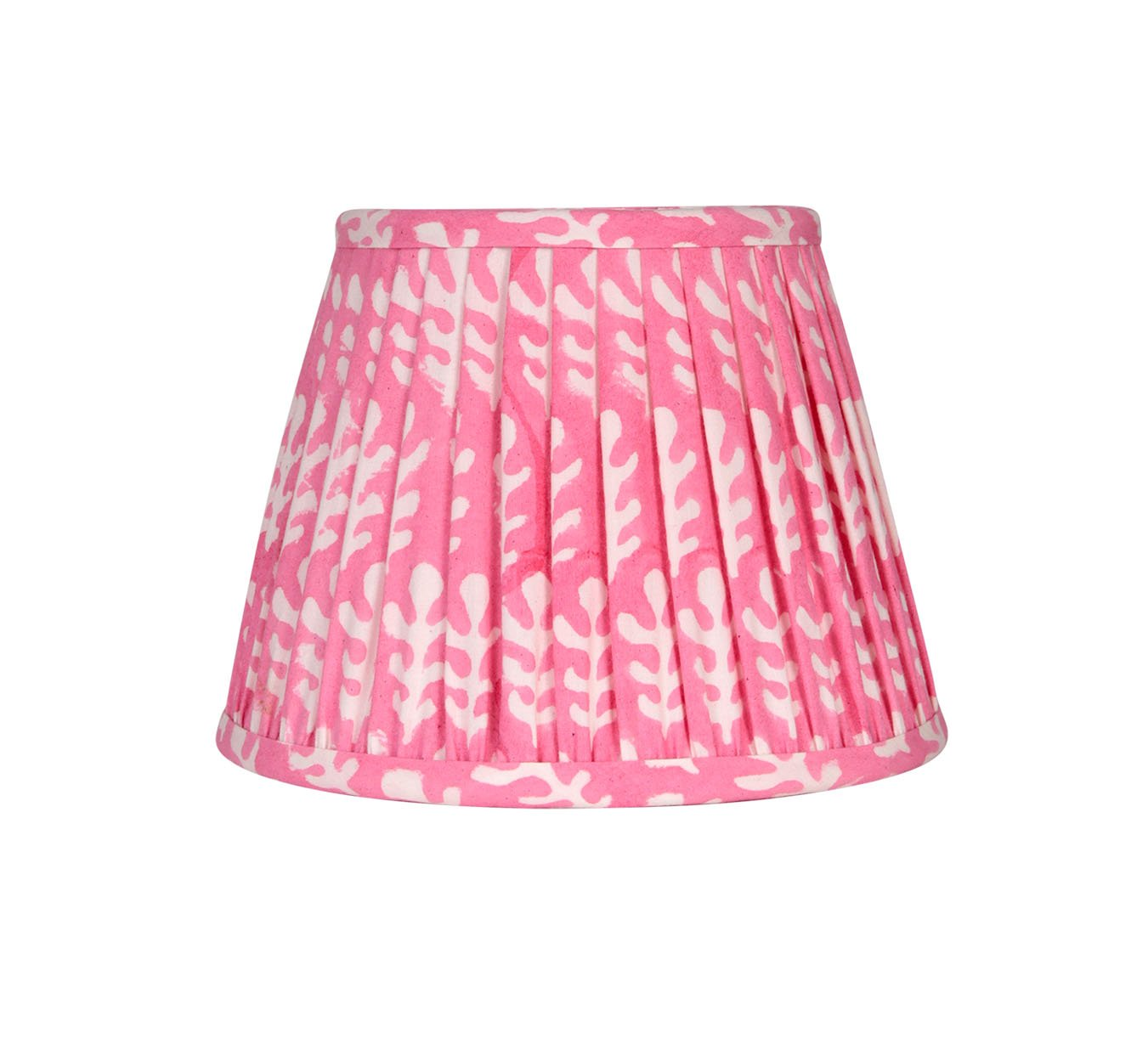 Lampshade - Mini Pleated - Bagru - Pink