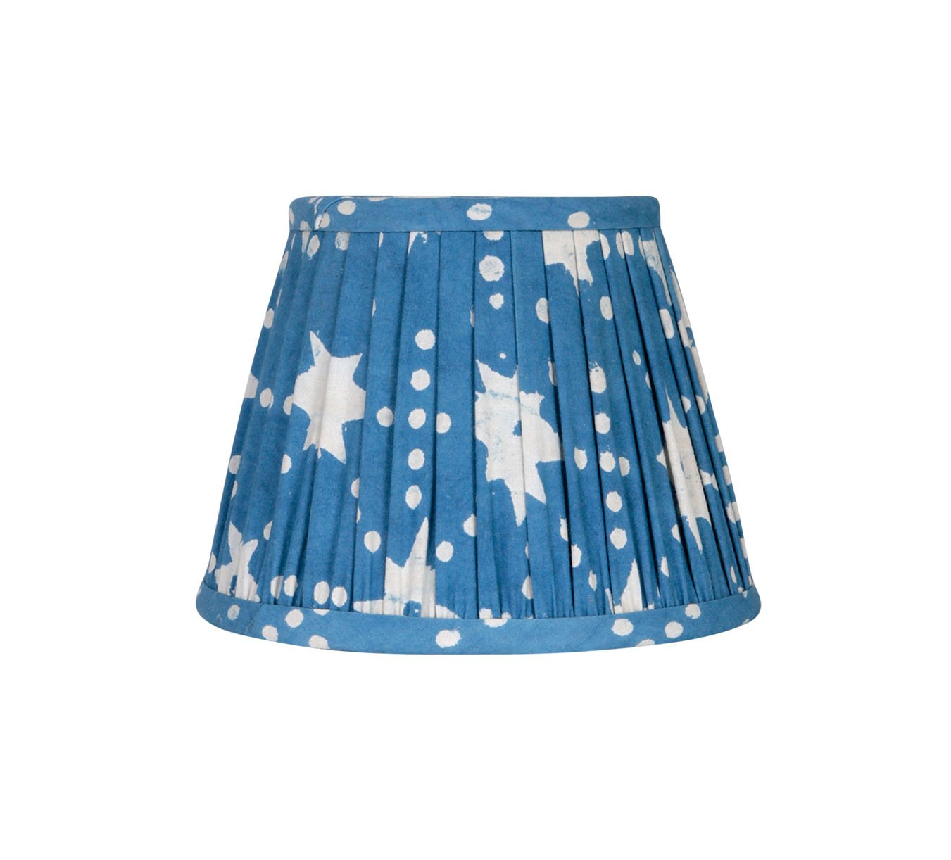 Lampshade - Mini Pleated - Stars - Blue