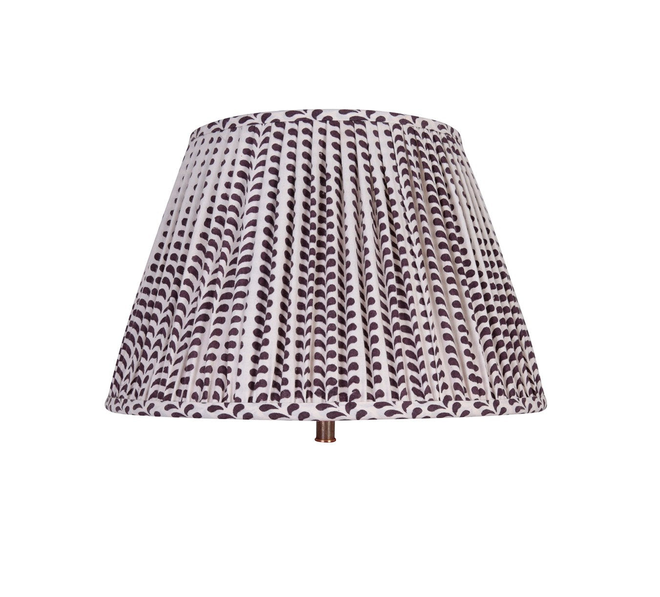 Lampshade - Pleated - Bindi - Aubergine - 14""