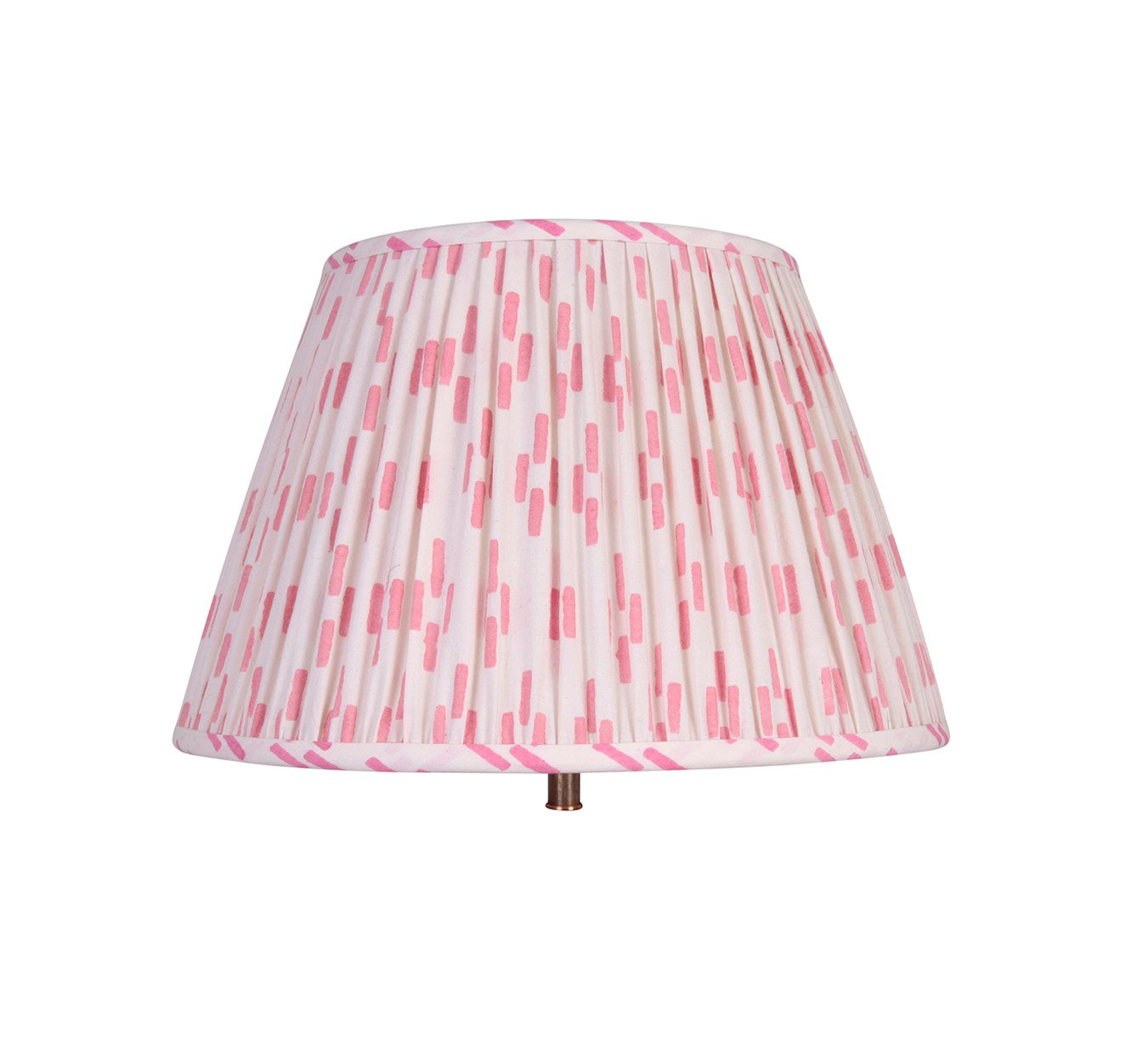 Lampshade - Pleated - Dash - Pink - 14""