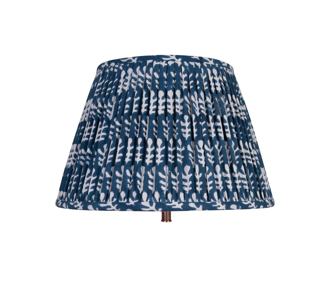Lampshade - Pleated - Bagru - Dark Blue - 14""
