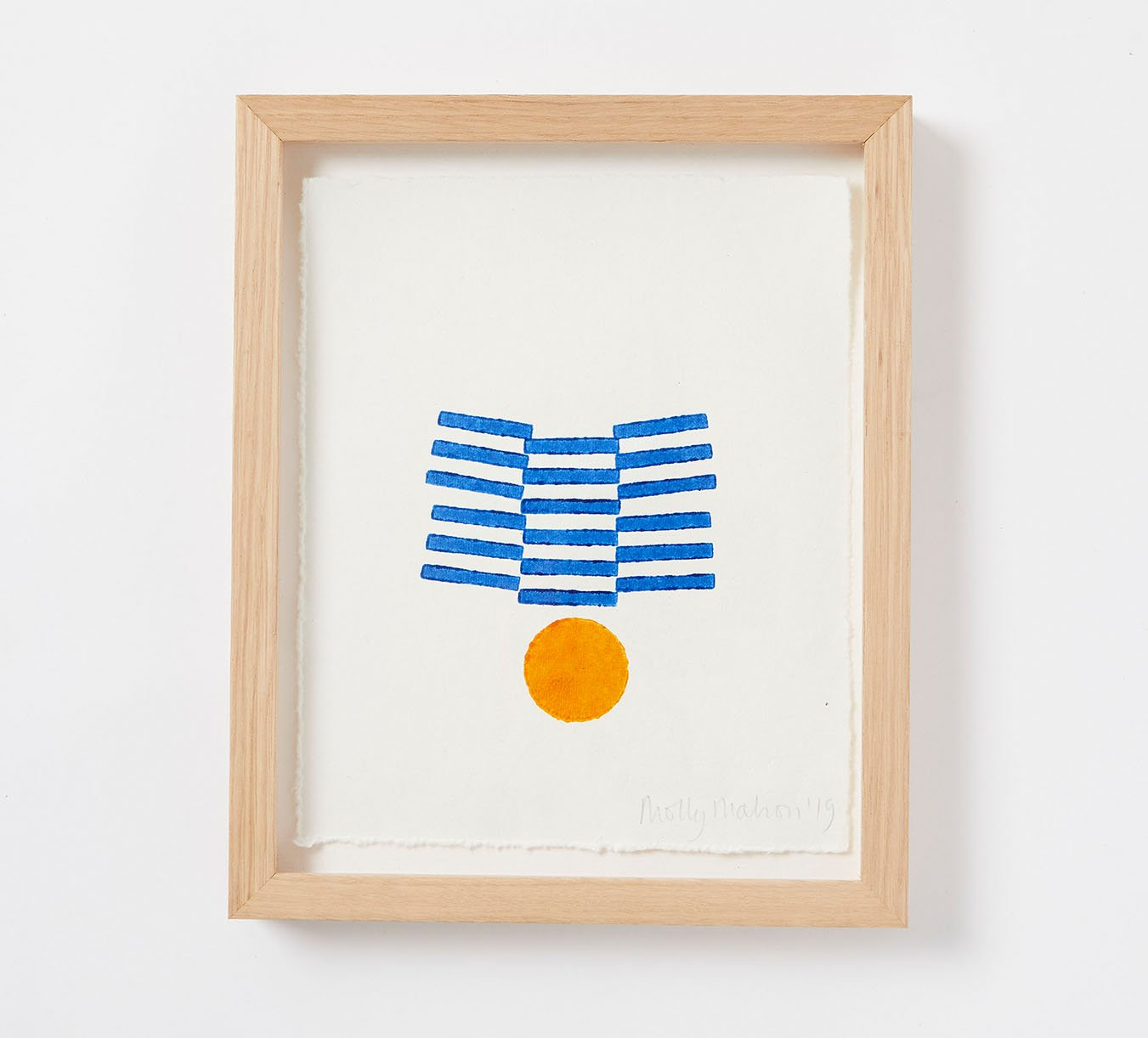 Framed - Cotton Paper Print - Fran - Blue