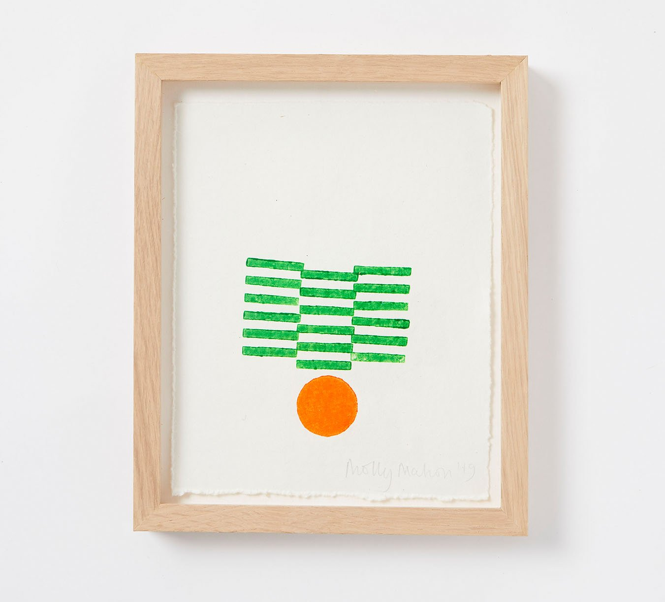 Framed - Cotton Paper Print - Fran - Green