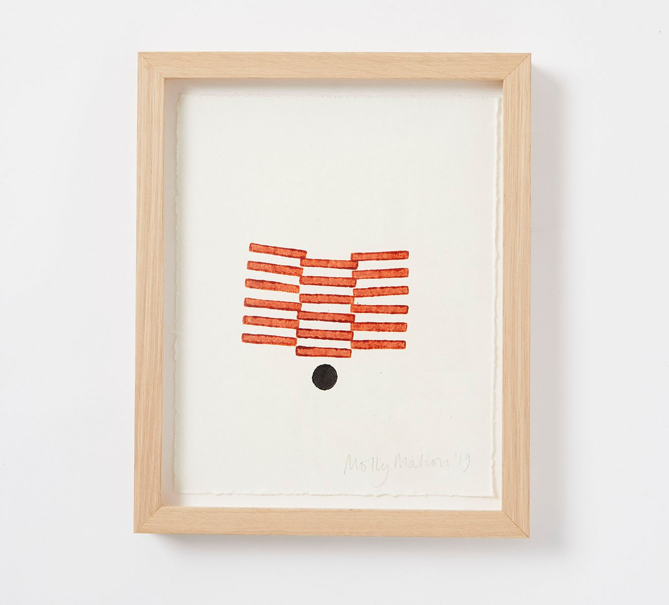 Framed - Cotton Paper Print - Fran - Rust