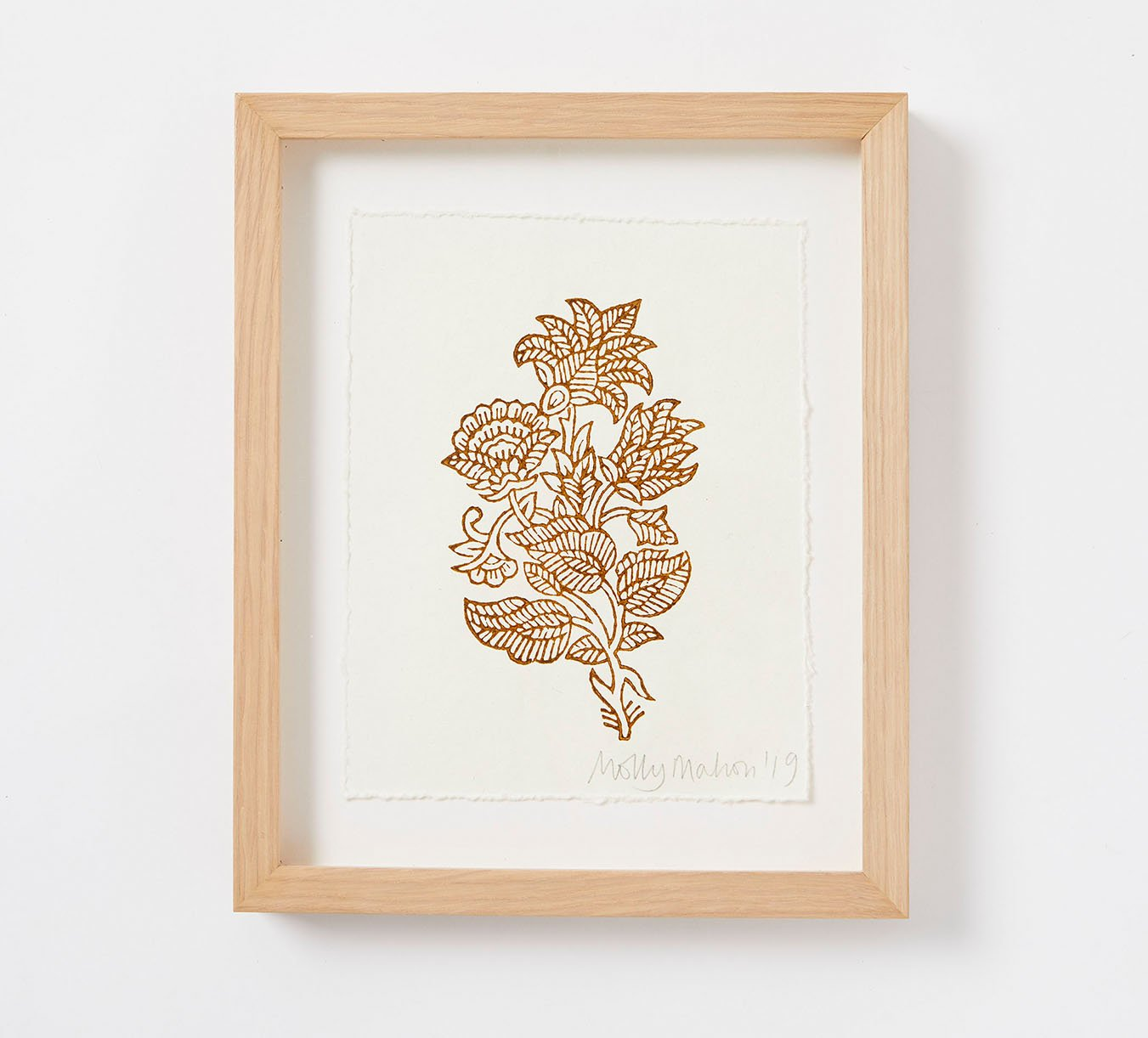 Framed - Cotton Paper Print - India - Brown