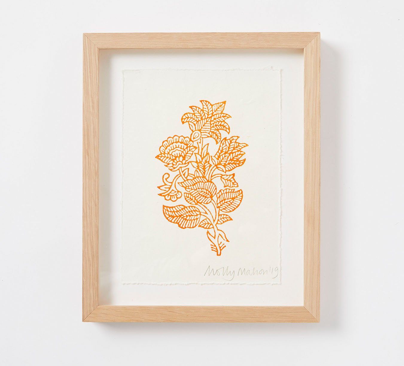 Framed - Cotton Paper Print - India - Orange
