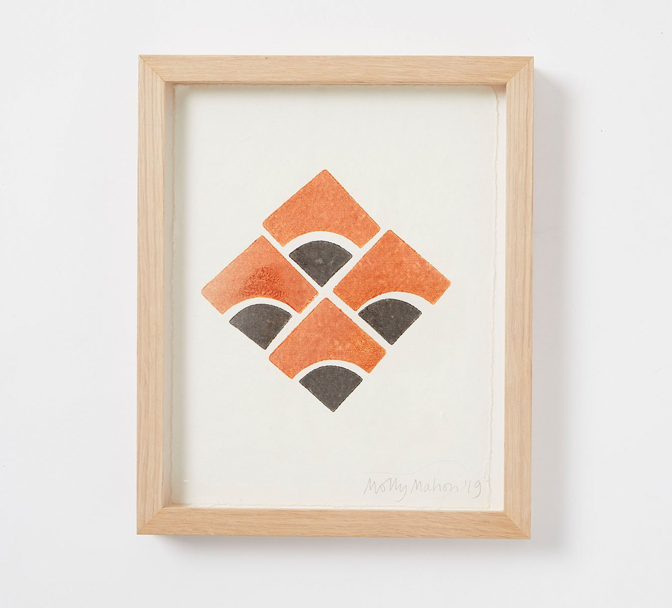 Framed - Cotton Paper Print - Kite - Rust
