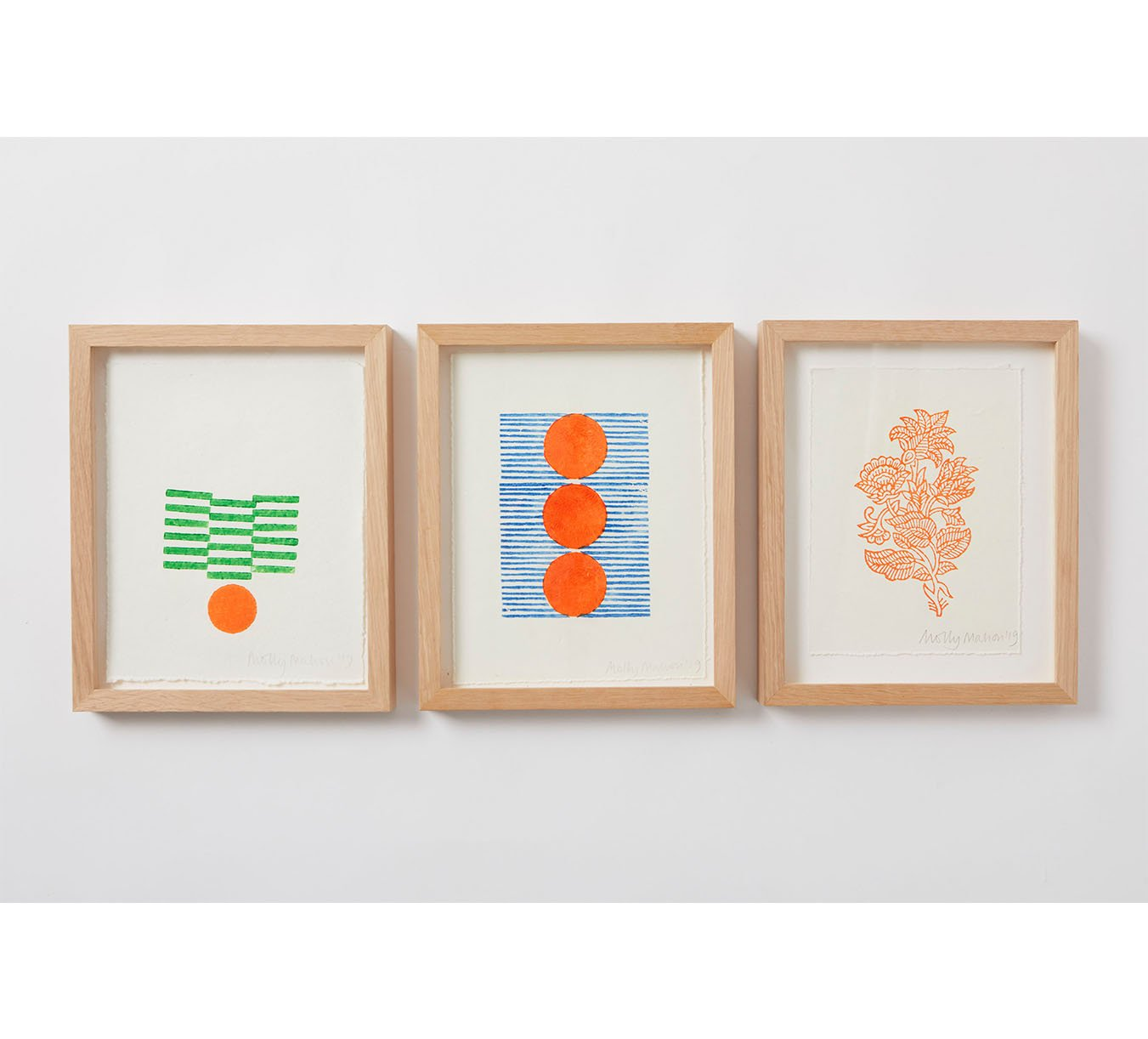 Framed - Cotton Paper Print - Trio 8