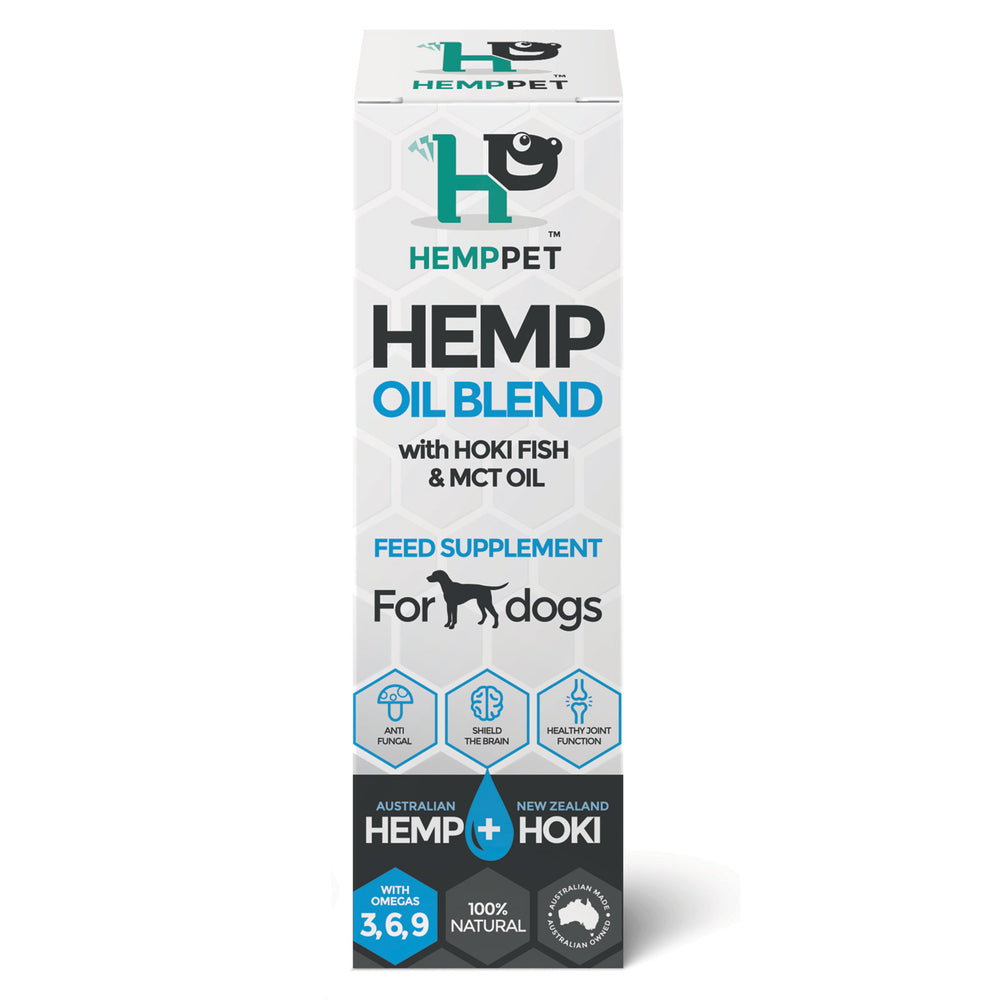 HempZone, HempPet Hemp MCT Hoki Fish oil for Dogs, CBD, Omega369