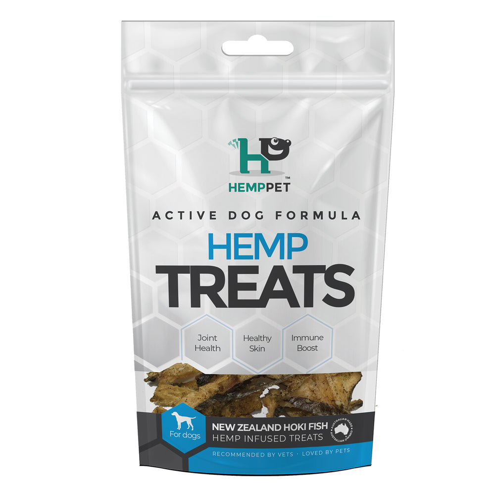 HempZone HempPet New Zealand Hoki Fish hemp infused treats. Omega 369 dha epa