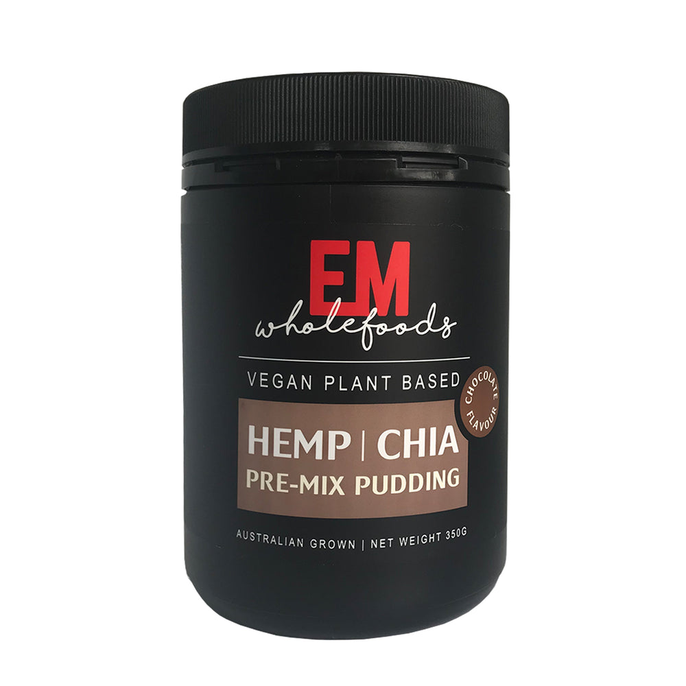 HempZone, EM wholefoods Hemp Chia Pudding Vegan plant chocolate