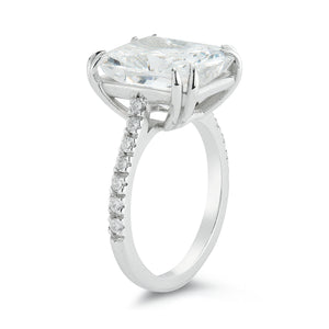 Custom Couplet Radiant Solitaire with Pavé Band