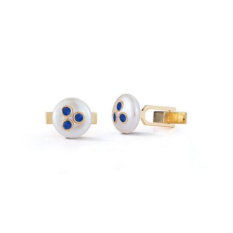 Les Perles Sapphire Cuff Links